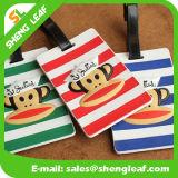 Hot Sale Custom Logo PVC Rubber Luggage Tag (SLF-LT037)