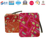 Rectangle Shaped School Metal Lunch Box for Kids with Plastic Handle Jy-Wd-2015121401