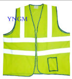 Workwear Mesh Safety Garment / Vest with High Visibility Reflective Tape