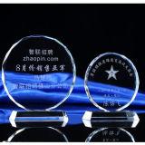 Luxury Round Crystal Trophy Award of Free Custom Logo