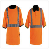 High Visible Working Safety Jacket with Reflective Strip
