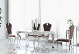 Modern Design Glass Top Dining Table Set with Chairs