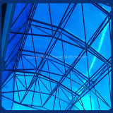 6mm Frosted Blue Polycarbonate Twin Wall Sheet for Roof of Office Building