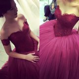 Lace Ball Gowns Sweetheart Tulle Tutu Wedding Party Evening Dress Sh3874