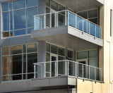 Stainless Steel Deck Railing with Glass Panels