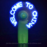 Custom Green LED Light Fan with Words (3509)