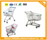 Metal German Supermarket Shopping Cart with Baby Seat