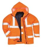 High-Visibility Reflective Parka Coats Made of 100% Polyester (DFJ1016)