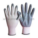 13G Polyester and Oil Proof NBR Nitrile Palm Coat Work Gloves
