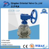Carbon Steel ASTM A216 Double Flange Butterfly Valve