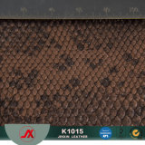 New Fashion Elastic Artificial Leather PVC Leather Snake Pattern for Bag Material / Luggage Material / Sofa Material