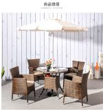 Modern Leisure Outdoor Furniture Rattan Garden Wicker Dining Table and Chairs