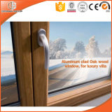 3D Wood Grain Aluminum Tilt Windows, Solid Wood Clad Thermal Break Aluminum Inward Opening Windows