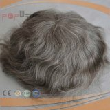 Grey Color Human Hair Full Lace Mens Toupee