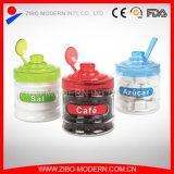 Wholesale Cheap Tea Coffee Sugar Canister Set Glass Jars with Spoon