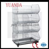 Folded Warehouse Storage Cage Stable Wire Basket