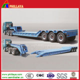 4 Axles Front Loading Detachable Gooseneck Lowbed Semi Trailer