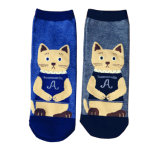 Women′s Cotton Socks with Cat Pattern (WA030)