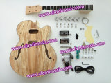 DIY Spaletd Maple Hollow Body Guitar Luthier Kit (AHB-126)