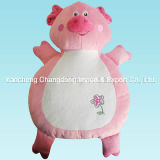 Plush Pink Pig Cushion with Soft Material