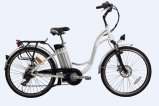 250W Lady Low Step Lithium Battery Electric Bicycle with En15194 Certification