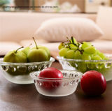 Embossed Apple Glass Salad Bowl/Fruit Bowl/Party Glass Bowl