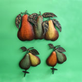 Metal Handpainting Pear Wall Decoration