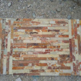 China Natural Yellow Rusty Slate Stone Veneers (SMC-SCP369)