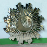 Antique Silver Sunburst Effect Popular Design Decorative Mirror (LH-000547)