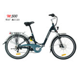 France Style City E Bike Lady Electric Bicycle Blue E-Bike Scooter 36V10A Lithium Battery Disc Brake