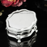 Vintage Metal Silver Plated Jewelry Box by Godinger Silver Co Velvet Lower for Wedding Decoration