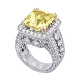 Citrine with 18k White Gold Diamond Jewelry