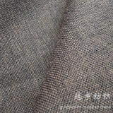 Oxford Linen Fabric 100% Polyester with Knitted Backing