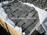 Black Granite Cobbles Black Basalt Cube Stone
