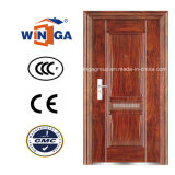 Wj Handle Iron Metal Exterior Security Steel Door (W-S-109)