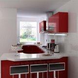 Modern MDF Wood Red Baking Varnished Kitchen Cabinet Furniture