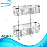 Popular New Design Bathroom Accessory Stainless Steel Double Bar Basket