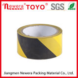 Black and Yellow Reflective Pet Solvent Warning Tape
