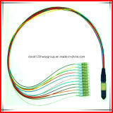 Competitive Prices Single Mode 12 Core 3m MPO Fiber Optic Patch Cord MPO to LC