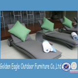 Rattan Bench Chair Sun Lounger with Side Table