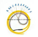 12cores Bunched Pigtail Optical Fiber LC/Upc Connectors
