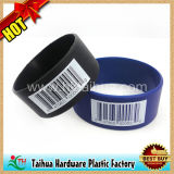 Printed Barcode Silicone Wristband with SGS Certification (TH-05171)