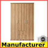 Wholesale Cheap Kd Design 3 Doors Melamine Wooden Bedroom Wardrobe