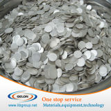 99.9% High Purity Lithium Plate for Coin Button Cell Battery