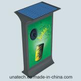 Stand Free Outdoor Shopping Malls Advertisement Scrolling Flex Film Fabric Mupi Solar Signboard