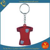 Hot Sale High Quality Fashion T-Shirt Shape Soft PVC Key Ring as Souvenir From China