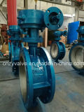 API/DIN/GOST Cast Steel Dn800 Py25 Eccentric Butterfly Valve