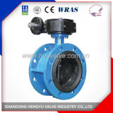 Industrial High Quality Wafer Butterfly Valve with Gearbox