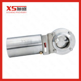 Stainless Steel Sanitary Pneumatic Actuator Butterfly Valve for Dairy