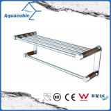 Wall Mount Chromed Double Towel Shelf (AA6718B)